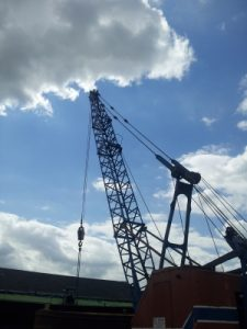 r Hywel Maslen independent researcher image of Crane for Leicester Trader